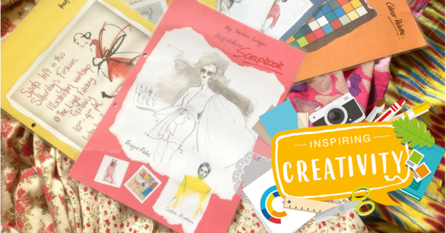 Inspiring creativity scrapbook