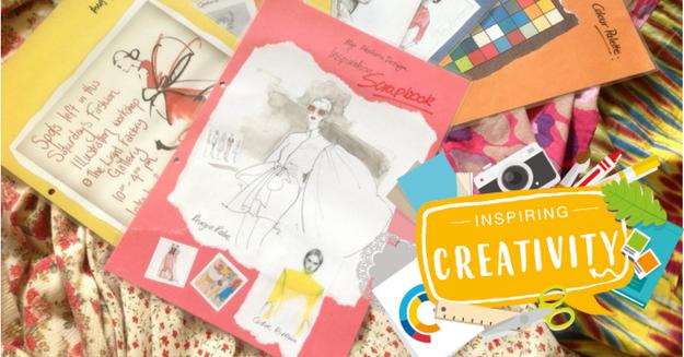 Inspiring creativity scrapbook